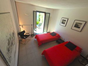 Second bedroom. Casa Fiori. Holiday home in Liguria overlooking the sea. On the Colle Lupi near Dolcedo.