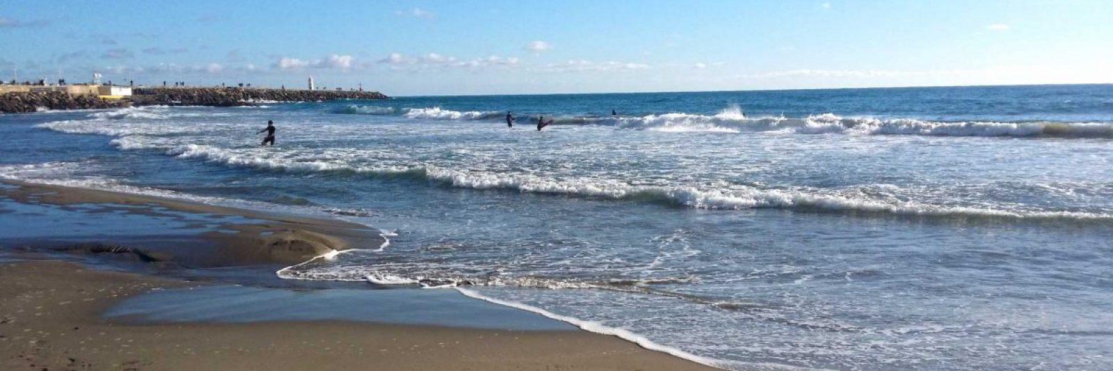 Am Strand von Porto Maurizio