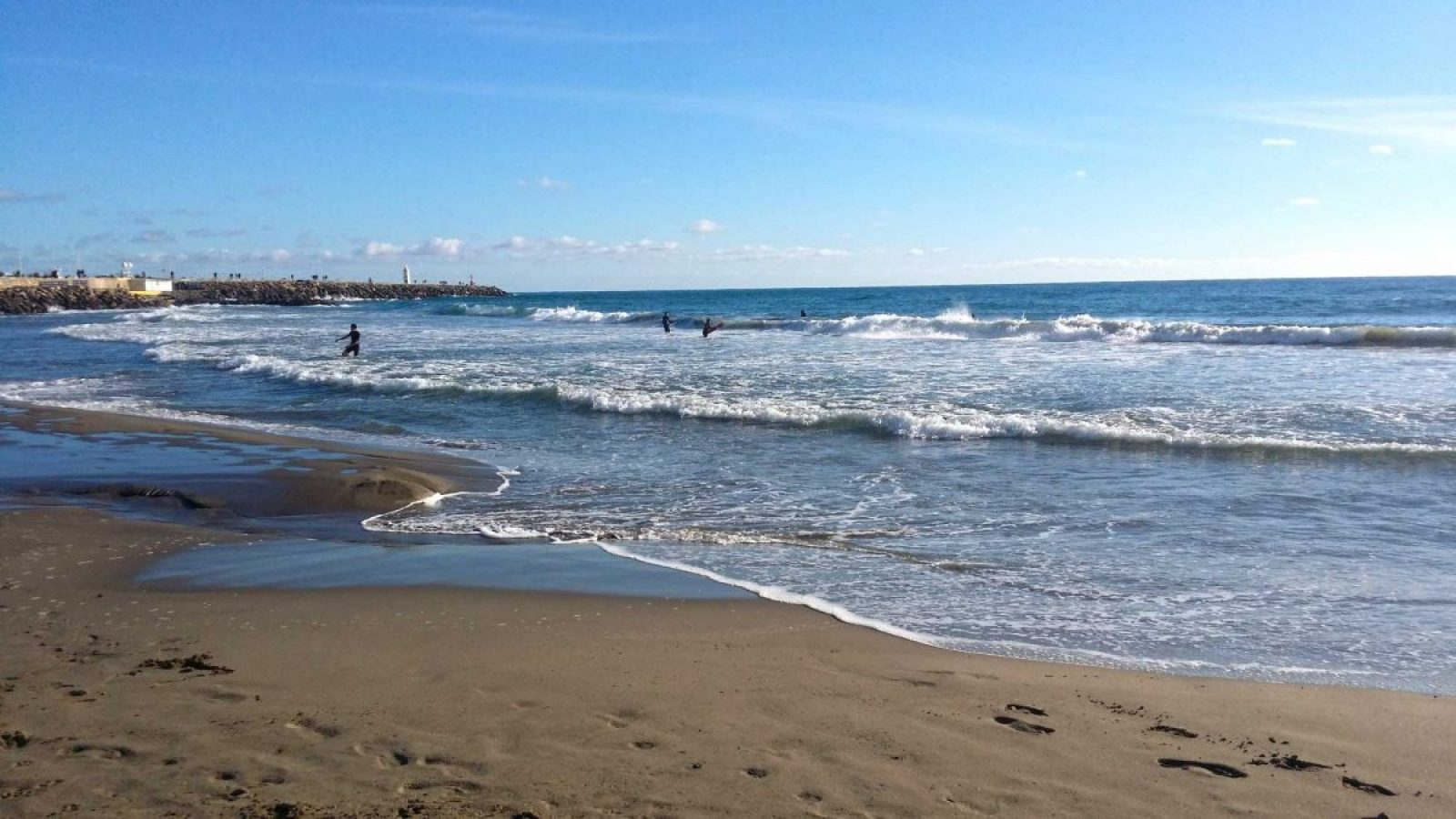 Am Strand von Porto Maurizio.Ferienhaus in Ligurien